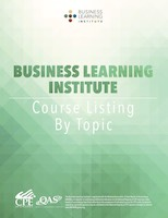 Business Learning Institute - Course Catalog